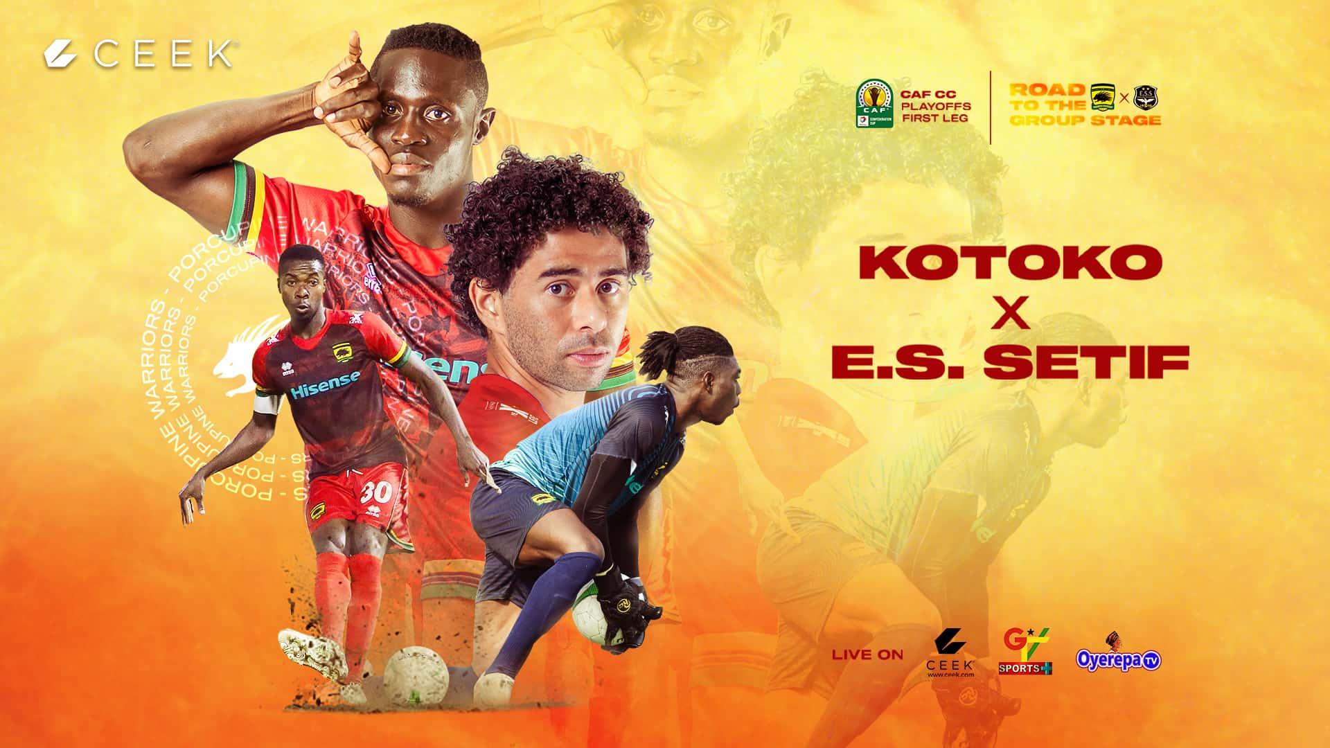 CAFCC - Asante Kotoko vs ES Sétif