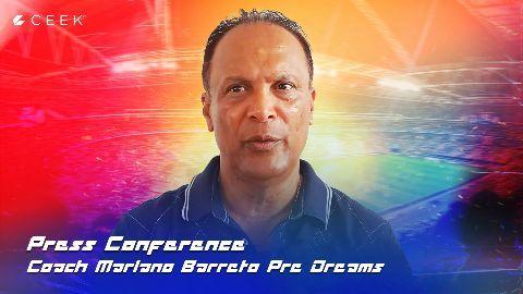 Press Conference with Head Coach Mariano Barreto | Pre Dreams ceek.com